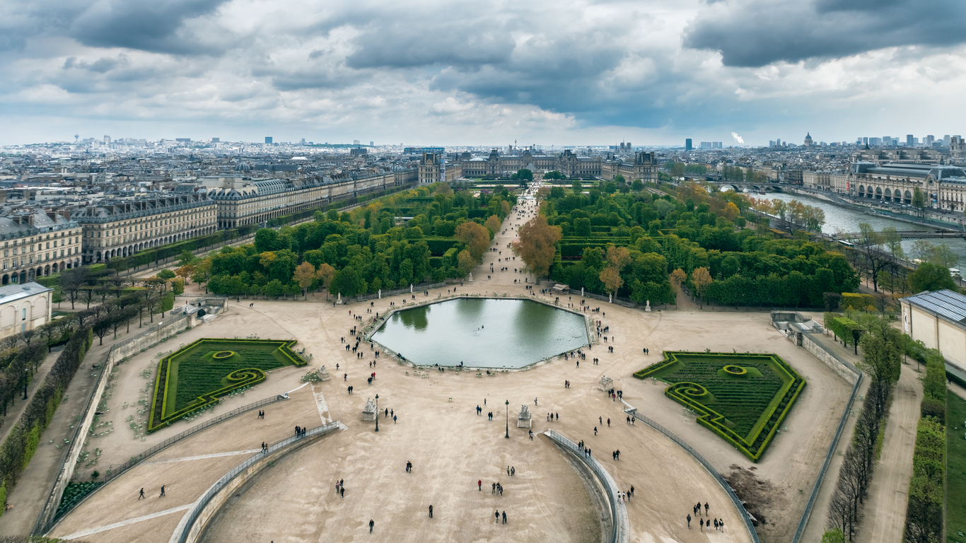 tuileries garden from the air
