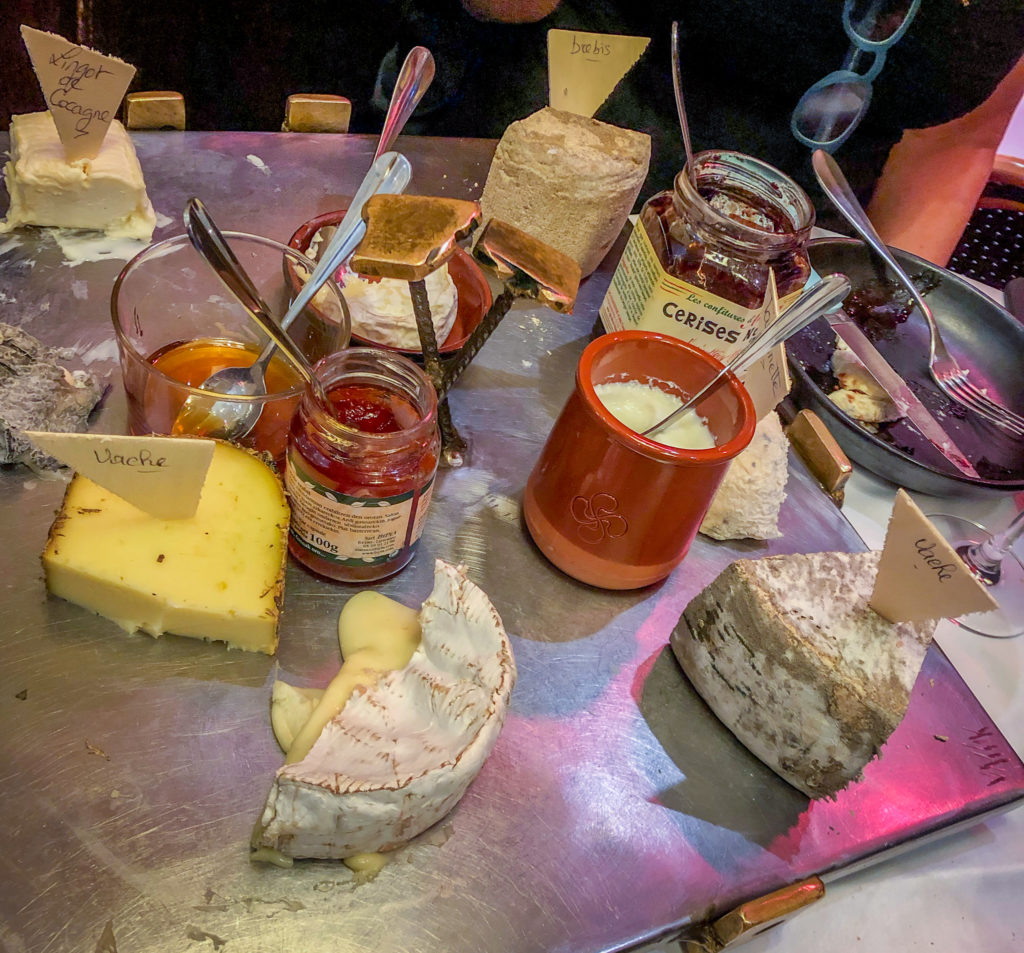 Le Comptoir cheese board